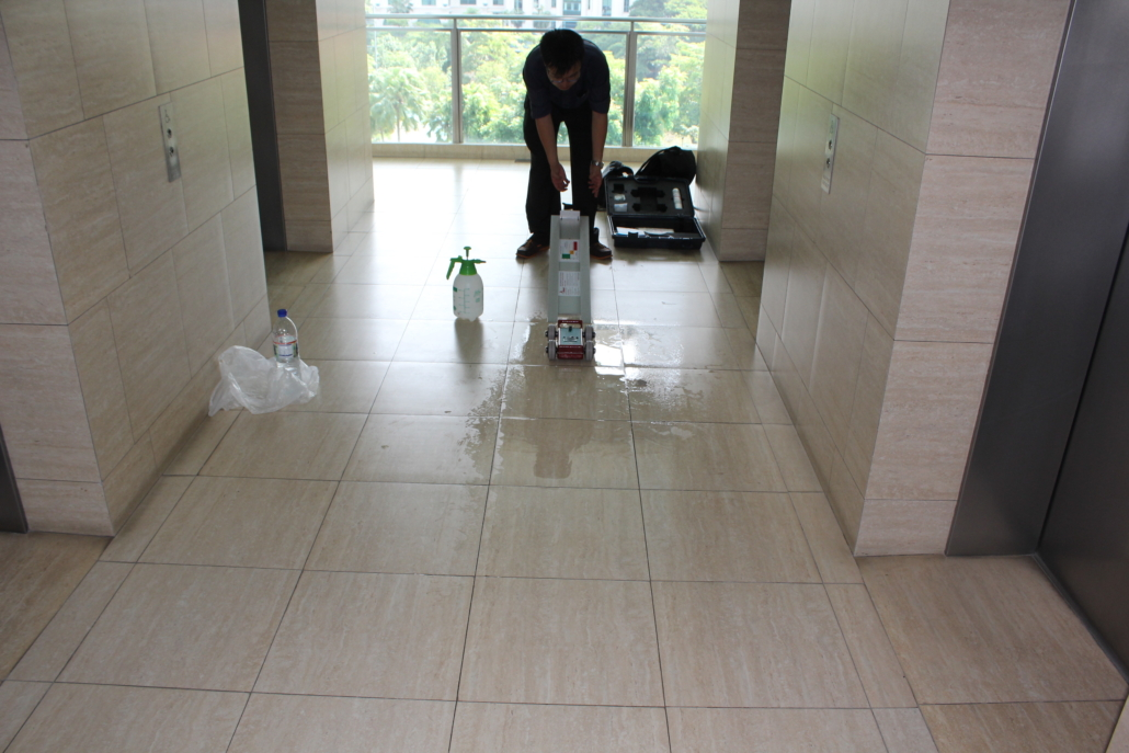 Measuring slip resistance of flooring