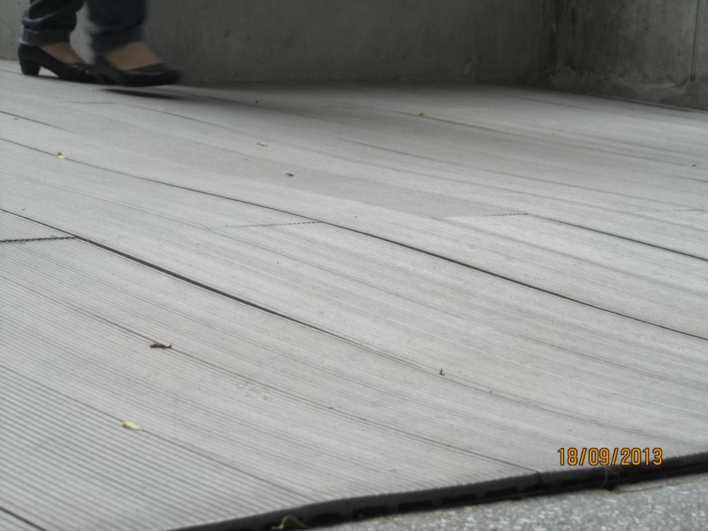 Timber deck warpage