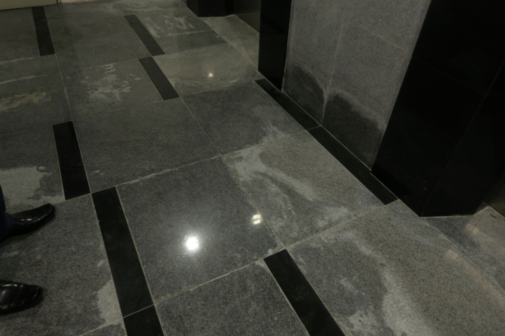 Stains on granite