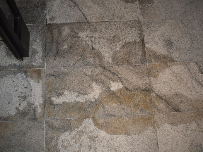 Stains on granite tiles