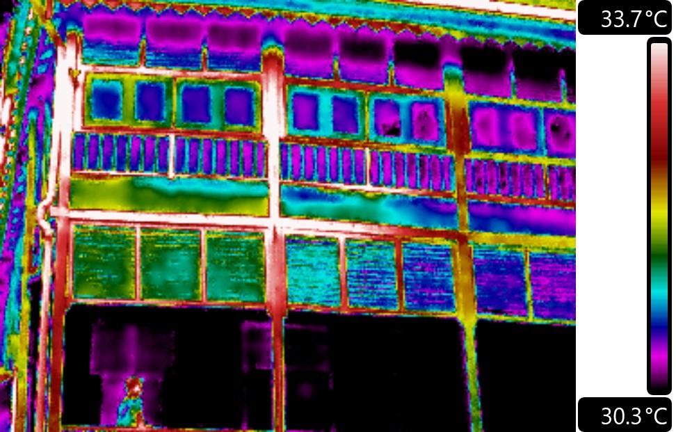 Wet rot observed on fascia board