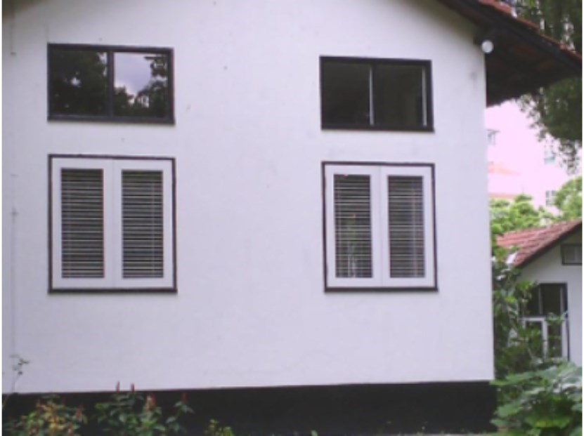 Optical image of facade, where thermal anomaly is not visually observed