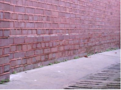 Optical image of wall surface, with no thermal anomaly observed